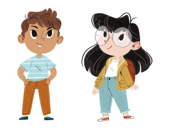 Aspen & Billy - character design