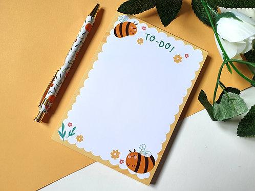 A6 Bumbling Bee Notepad