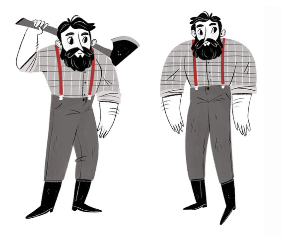 Woodcutter character design