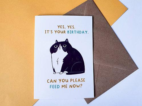 Feed Me Birthday Card