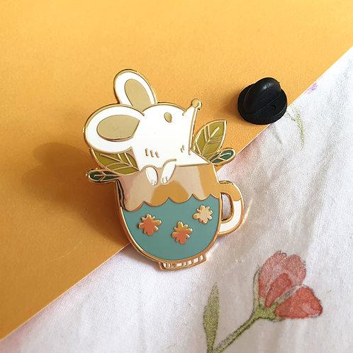 Teacup Mouse Enamel Pin
