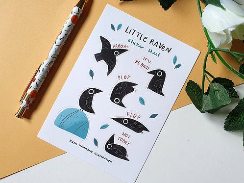 Little Raven Sticker Sheet