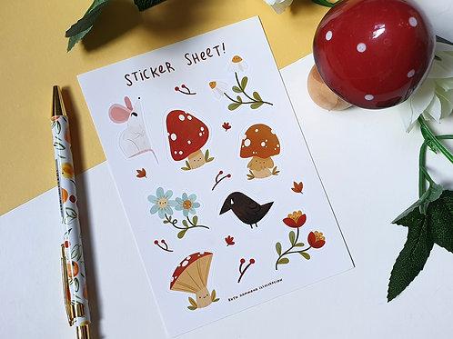 Autumnal Sticker Sheet
