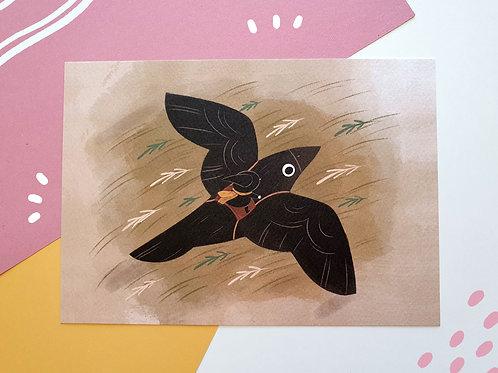 Raven A5 Art Print