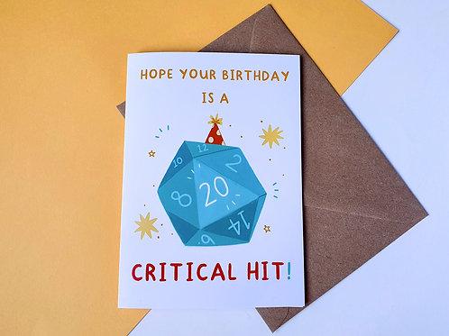 Critical Hit Greetings Card