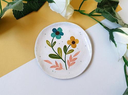 Floral Trinket Dish