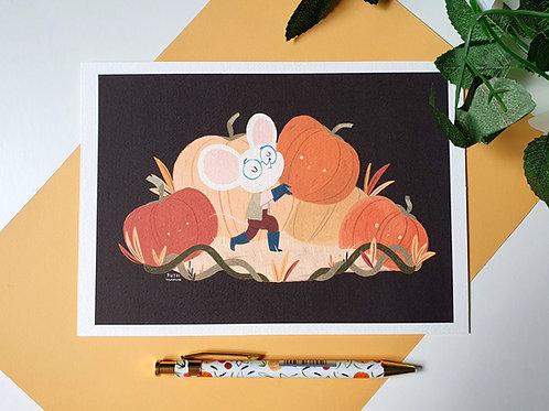 Pumpkin Collector Art Print