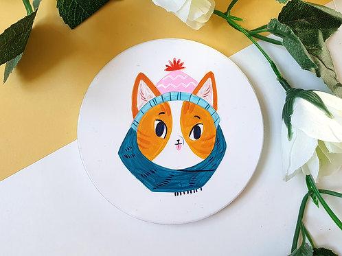 Cosy Cat Ceramic Coaster