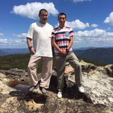 With Master Yanzi, Blue Mountains NSW