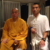 With Abbot Shi YongXin of Shaolin Temple, China