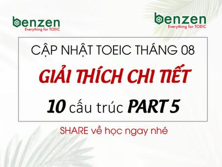 10 CẤU TRÚC THƯỜNG GẶP TRONG PART 5 TOEIC (tháng 8/2019)