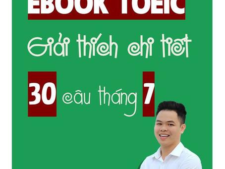 EBOOK 30 CÂU TOEIC THÁNG 07/2019 - BENZEN ENGLISH