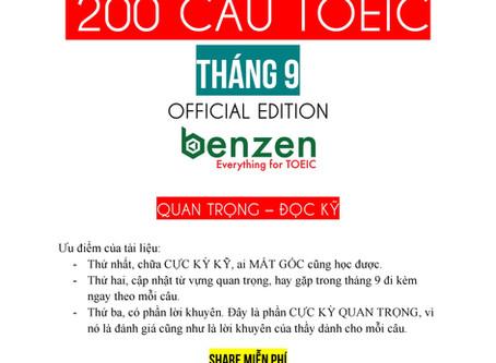 HOT! EBOOK GIẢI CỰC KÌ CHI TIẾT 200 CÂU ĐỀ TOEIC THÁNG 9/2019