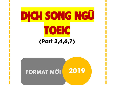 EBOOK DỊCH SONG NGỮ TOEIC - BENZEN ENGLISH