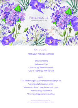 PREGNANCY RATE CARD