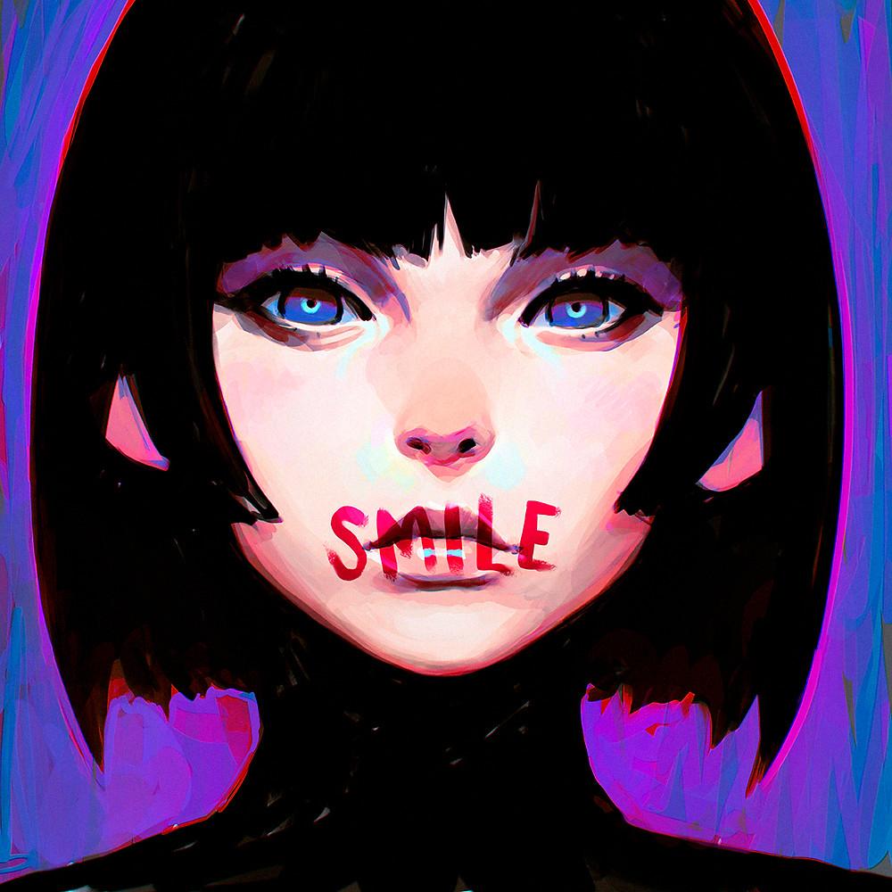 """""""Smile"""" by Ilya Kuvshinov"""