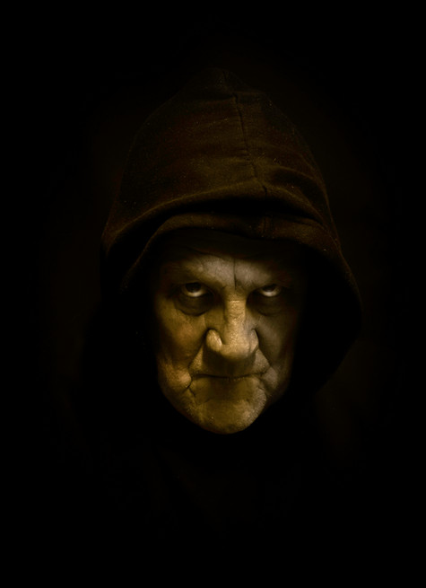 Self portrait in scary mode.