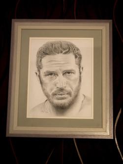 Tom Hardy, mounted & framed.