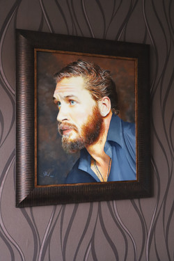 Tom Hardy oil painting on our wall