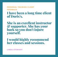 Linda S ad quote Personal Training nov 2
