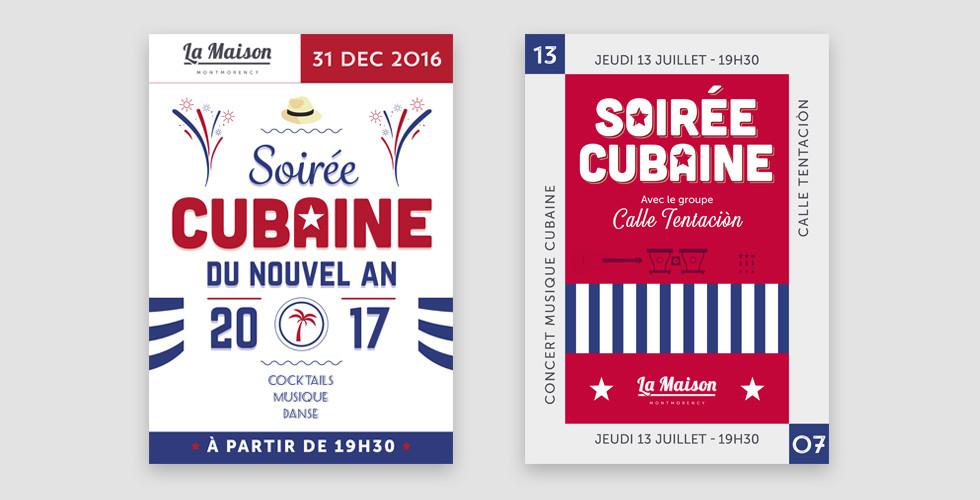 LMM - Affiches soirée cubaine