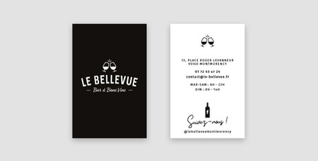 Le Bellevue - Carte de visite