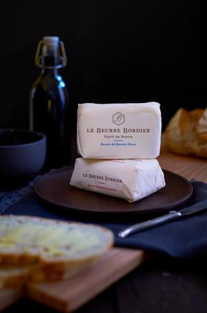 beurre bordier et tranche de pain