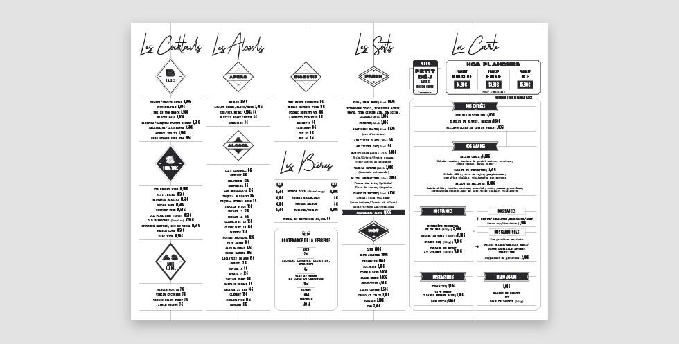 Le Bellevue - Carte extérieure