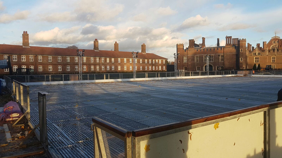 London Ice Rink Build