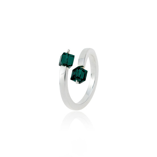Anillo Plata 925/000 y Strass. ANH-1.