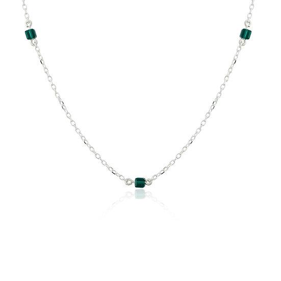 Collar Plata 925/000 y Strass. 42 cm largo. GG 14
