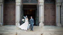 Sarah & Kevin – St. Elizabeth of Hungary + Magnolia Hotel Ballroom