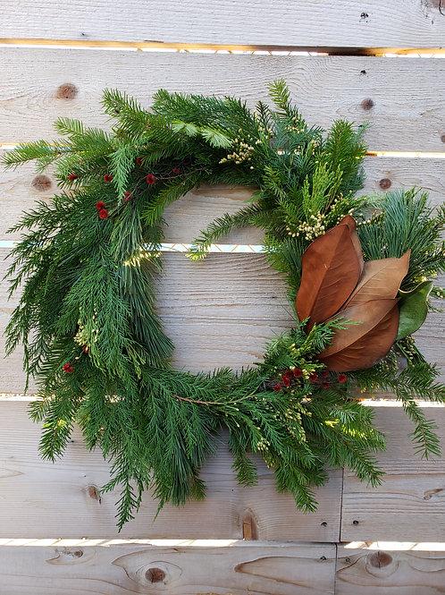 Hand Designed Winter Wreath