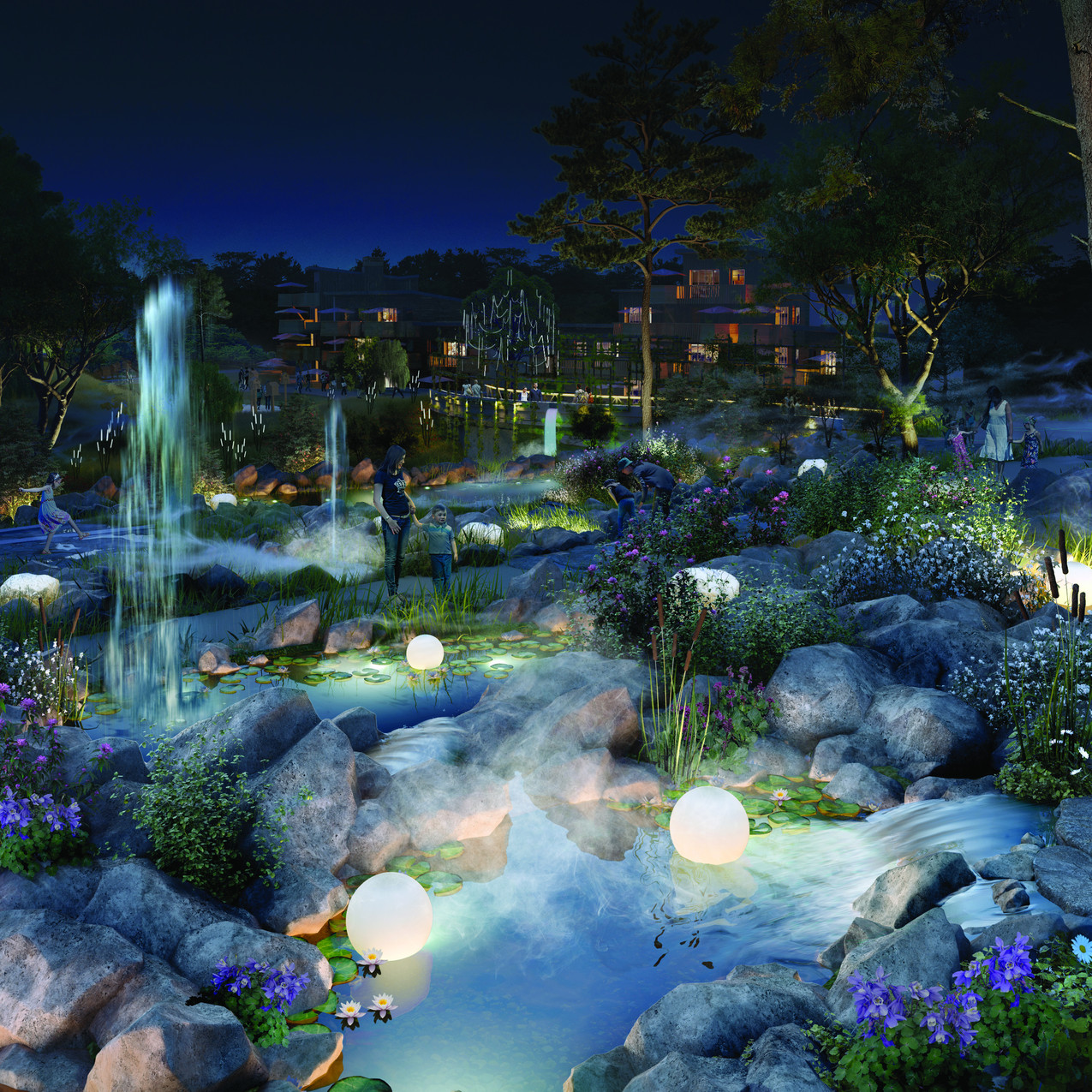 Les Jardins extraordinaires_nuit