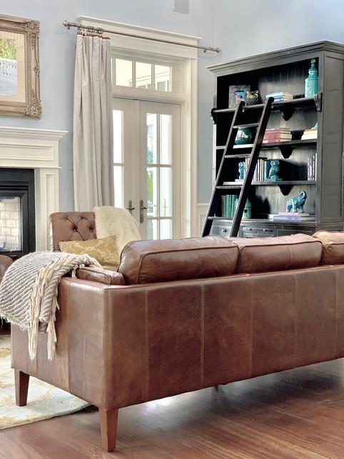 20 ft Ceiling Living Room