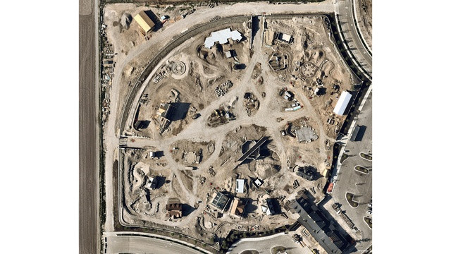 Evermore Park Arial Image during construction
