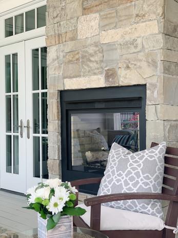 Indoor/Outdoor Gas Fireplace