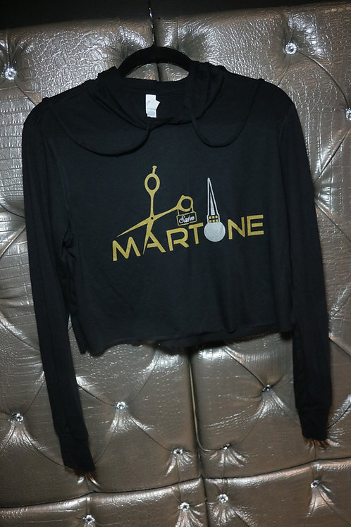 Cropped T-shirt with Hood