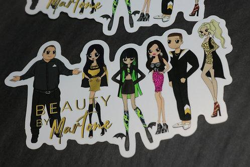 Beauty By Martone Sticker