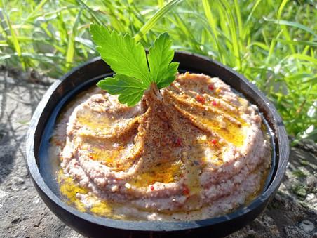 """Houmous de niébé & Crème""""fauxmagère"""" ail et fines herbes"""