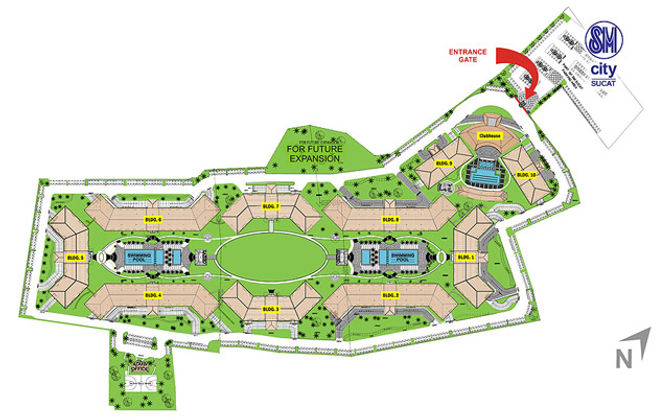 SMDC Field Residences Map