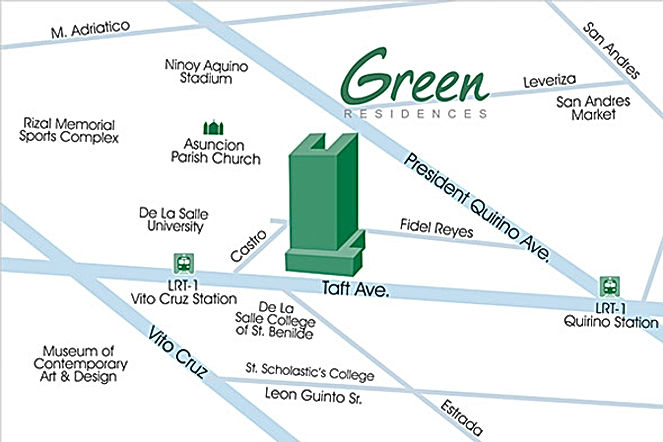 SMDC Green Residences Location Map