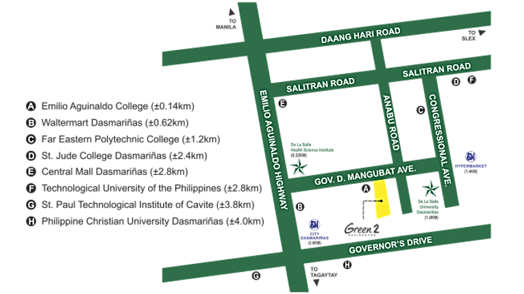 SMDC Green 2 Residences Location Map
