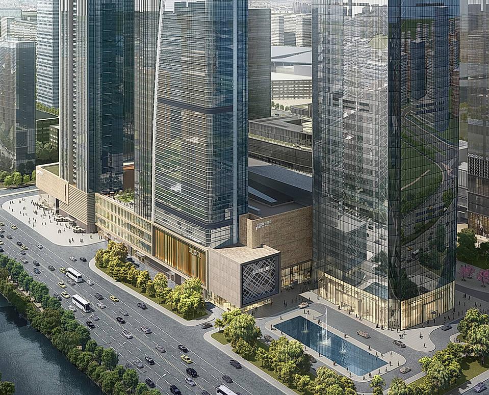 南京德基世贸中心商业裙房,中国