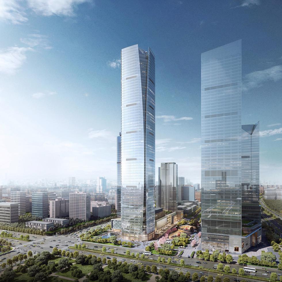 南京德基世贸中心塔楼,中国南京
