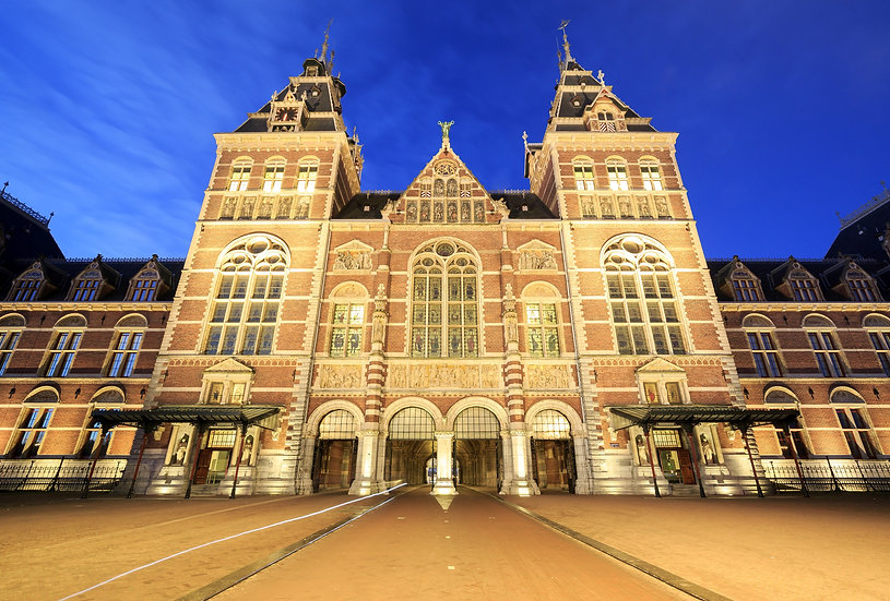 The Rijks Museum by Night, Amsterdam