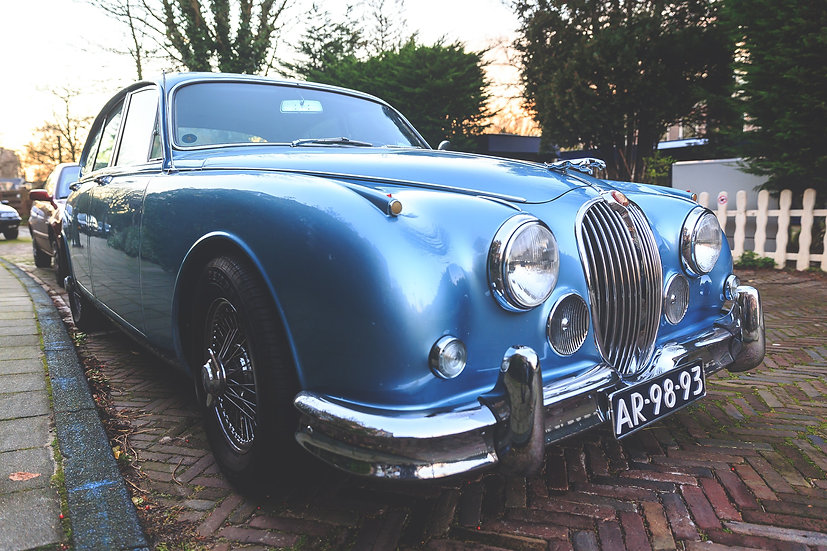 Beautiful Blue Jaguar MK2 1964