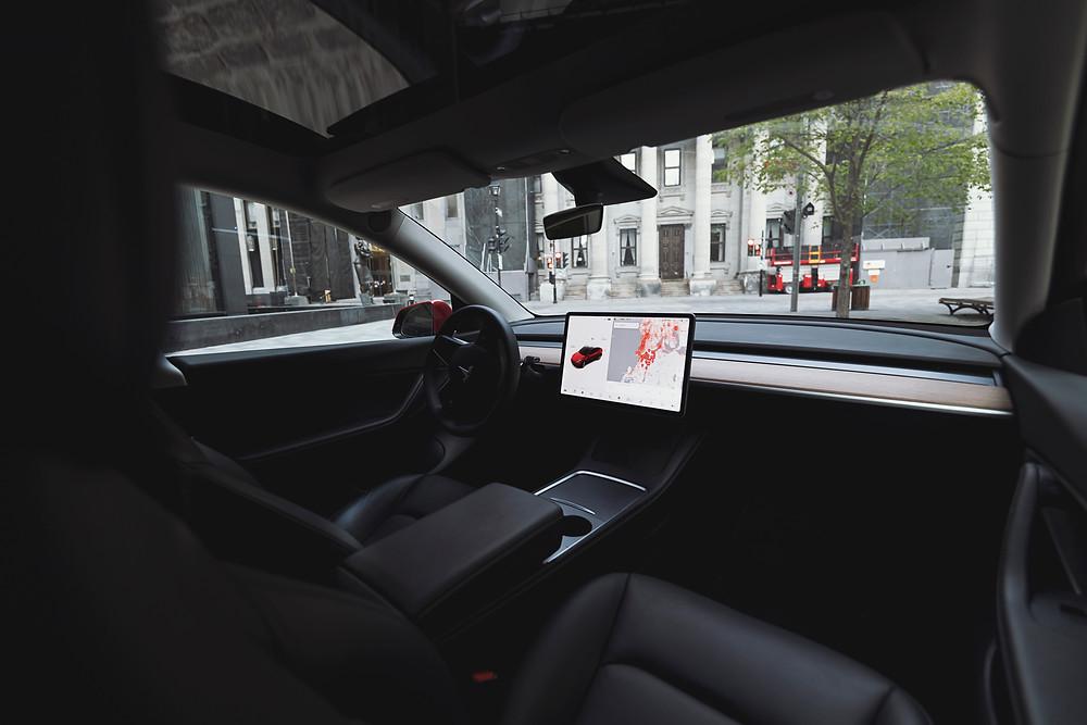Tesla Model Y interior