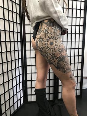 amazing dotwork tattoos, best dotwork in london, best tattoo studio near me, best geometric tattoo artists in london, best dotwork in brighton, best geometric artists in brighton, mandala tattoos, mandala tattoo art, 3d geometric tattoos, divine canvas tattoo artists, custom tattoo artists in london, custom tattoo artists in brighton, dotwork in london, dotwork in brighton, mandala tattoo artists, amazing 3d geometric tattoos, geometric back tattoos, dotwork tattoos, tattooed women, tattooed men, cover up tattoos, deity tattoo, private tattoo studios in london, gay friendly tattooist, queer tattoo artists, vegan friendly tattoo artists, mandala tattoos, leg sleeve, girls with leg sleeves
