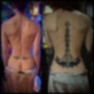 cover up tattoos, ornamental tattoos, ornamental back tattoo, lotus tattoos, ornate tattoos